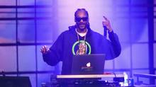 Snoop Dogg spins onstage during DirecTV Super Saturday Night at Pier 70 on Feb. 6, 2016 in San Francisco. (Christopher Polk/Getty Images for DirecTV)