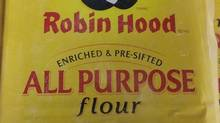 The Canadian Food Inspection Agency is issuing a recall for the Robin Hood brand of all-purpose flour sold in Western Canada due to possible E. coli contamination. (HO-Canadian Food Inspection Agency/THE CANADIAN PRESS)