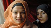 Ussra Hussain and Nafeesa Salar in Montreal. (John Morstad/John Morstad for The Globe and Mail)