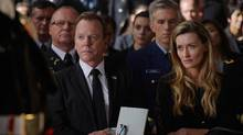 Kiefer Sutherland stars as Tom Kirkman, an accidental U.S. president in Designated Survivor, a show that strangely mirrors America's current political scene.