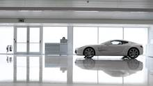 The production facility at Gaydon in which One-77s are built is laboratory-like in its design and detail. (Aston Martin)