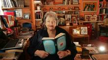 Maeve Binchy in her office at her home in Dalkey, County Dublin. (Cyril Byrne)