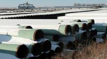 A depot used to store pipes for Transcanada Corp's planned Keystone XL oil pipeline is seen in Gascoyne, North Dakota November 14, 2014. (Andrew Cullen/REUTERS)
