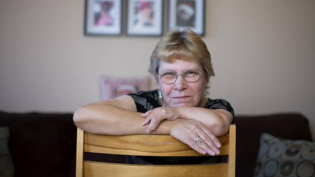 Susan Nixon was born with a crooked left arm with only three fingers and believes it is because her mother was given the drug thalidomide during pregnancy. Susan is seeking financial support from Ottawa's new aid package but may not have enough evidence to back her claim up. (Christinne Muschi/The Globe and Mail)