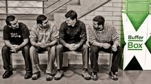 BufferBox team, from left, Aditya Bali, Jay Shah, Mike McCauley and Brad Moggach  (COURTESY OF BUFFERBOX)