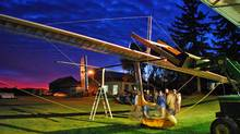 A team from the University of Toronto Institute for Aerospace Studies assembles the Snowbird ornithopter, a human-powered flying machine that has foiled many an intrepid inventor.