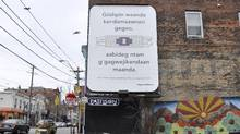 Indigenous languages are at risk of disappearing from our social fabric. In a bid to keep the cultural connection alive, a group has been using languages on billboards and signs to provoke people on why it's important to keep these languages in use. (Susan Blight)