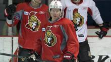 Ottawa Senators right wing Daniel Alfredsson (11) takes part in the team's practice Wednesday, May 1, 2013 in Montreal. (Ryan Remiorz/THE CANADIAN PRESS)