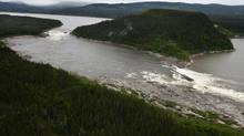 Muskrat Falls, on the Churchill River in Labrador. A 1,100-kilometre transmission link would deliver electricity produced at the Muskrat Falls generating station to the island of Newfoundland. (PAUL DALY FOR THE GLOBE AND MAIL)