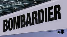 A Bombardier logo is pictured on the company booth during the European Business Aviation Convention & Exhibition (EBACE) at Cointrin airport in Geneva, Switzerland, May 24, 2016. REUTERS/Denis Balibouse - RTX2ECR5 (© Denis Balibouse / Reuters)