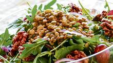 Michael Smith's lentil, arugula, red grape and walnut salad (Alanna Jankov for The Globe and Mail/Alanna Jankov for The Globe and Mail)