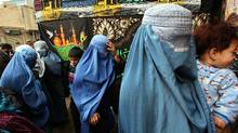 Afghan Shiite Muslim women pray during Ashura at a Shiite mosque on Dec. 27, 2009 in Kabul, Afghanistan. (Majid Saeedi/Getty Images)