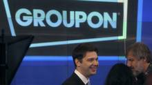 Groupon chief executive officer Andrew Mason, centre (BRENDAN MCDERMID/REUTERS)