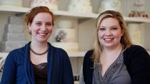 Sarah Bell and Allyson Meredith Bobbitt of Toronto pastry shop Bobbette and Belle. (Rosa Park for The Globe and Mail/Rosa Park for The Globe and Mail)