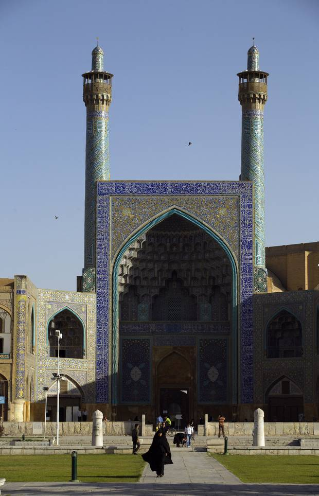 A view of the Imam Mosque in Esfahan, Iran in May 2007.