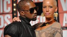 Kanye West's girlfriend, model Amber Rose, is one of several high-profile females with shaved heads. (Peter Kramer)