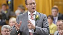 Justice Minister Peter MacKay responds during Question Period in the House of Commons on Parliament Hill in Ottawa, Wednesday May 14, 2014 . THE CANADIAN PRESS/Adrian Wyld (Adrian Wyld/THE CANADIAN PRESS)